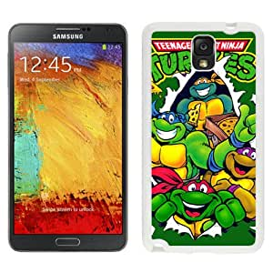 Easy Use Galaxy Note 3 Case Design with Teenage Mutant Ninja Turtles 3 White Case for Samsung Galaxy Note 3 III N900 N9005