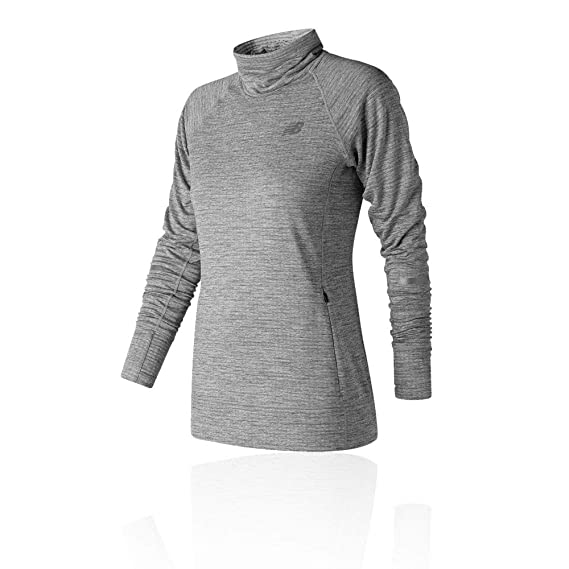 a66e84dff7d20 New Balance NB Heat Pullover Women's Running Top - AW18 Grey: Amazon ...