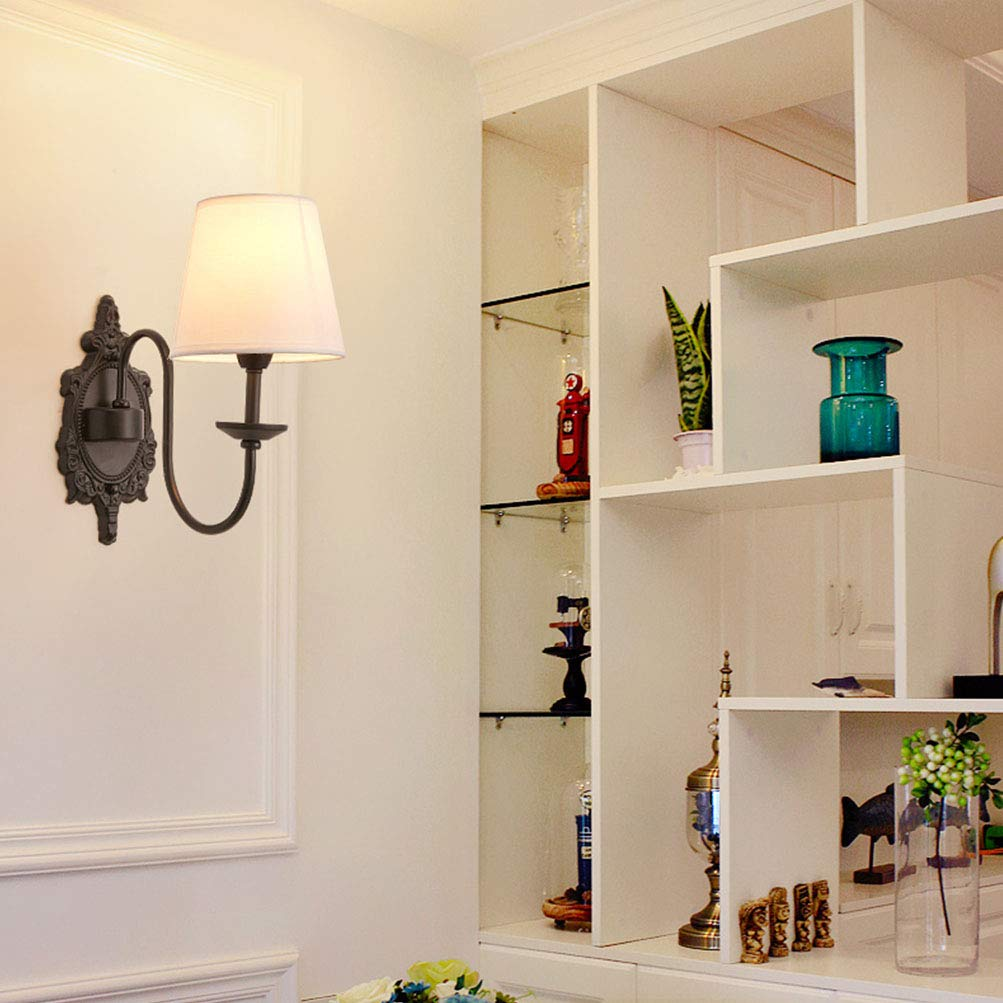 MIAOQI - Lámpara de de pa rojo de Lámpara estilo vintage, diseño ...