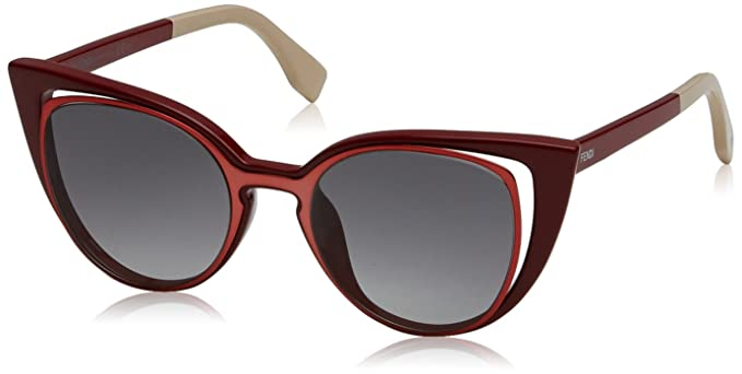 fe5e334dadd42 Image Unavailable. Image not available for. Color  FEN Fendi 0136 S 0NZ1  Orange Red VK gray gradient lens Sunglasses