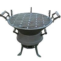 Holzkohlegrill schwarz klein Charcoal Grill Balkon Camping Picknick ✔ rund ✔ tragbar ✔ Grillen mit Holzkohle