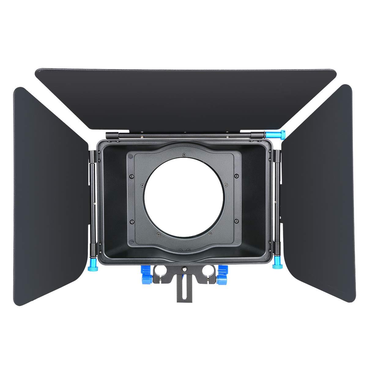 CINEPIECE Pro DSLR Digital Matte Box Sunshade for Follow Focus System 15mm Rail Rod Rig,Movie Kit Film Making System,Video,DSLR Camera Cages, Nikon, Canon,Sony,Camcorder, DVR, DV, Recorder