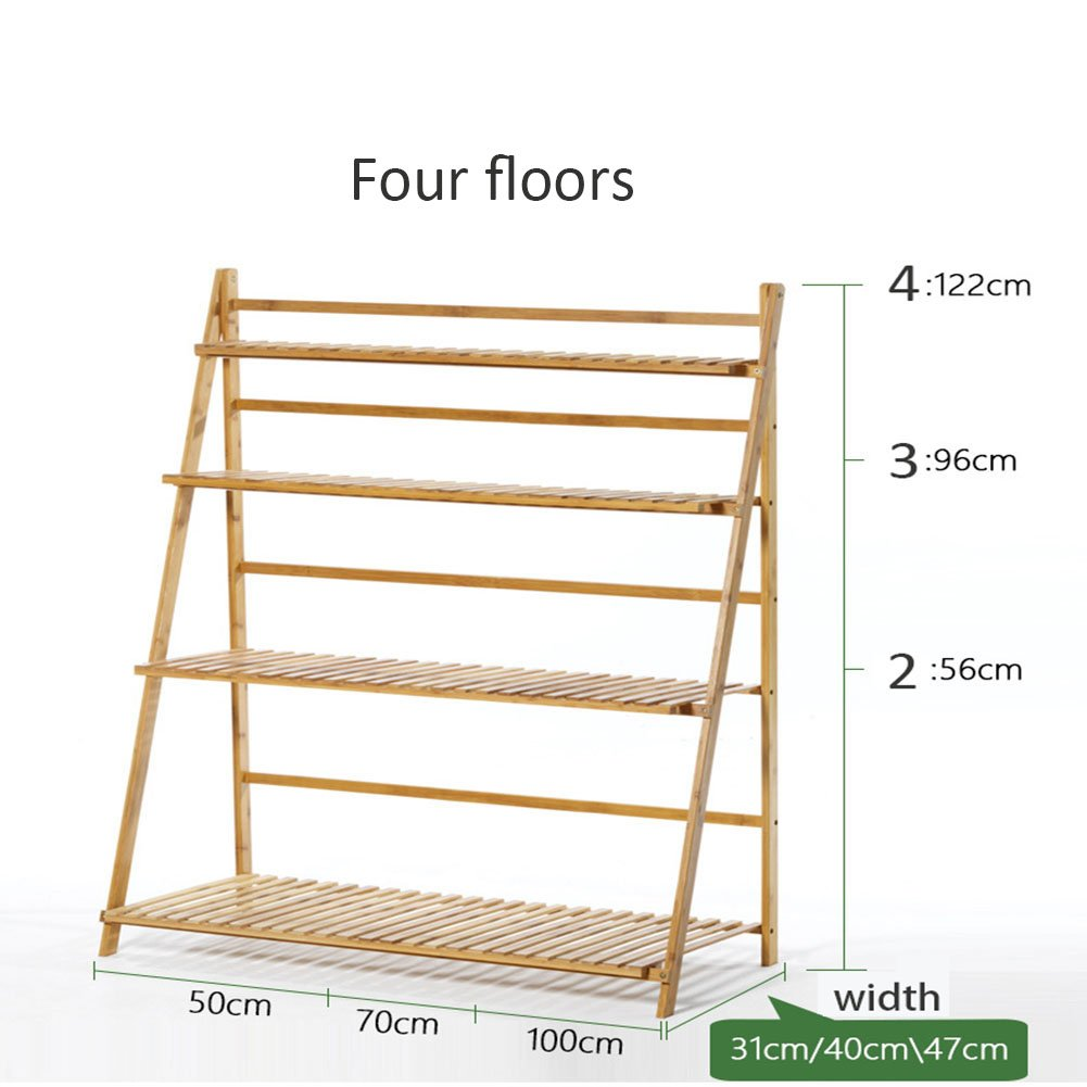 MU MA REN balcone porta vasi in legno massiccio multilivello per interni e esterni soggiorno pianta fiore scaffale in bambù pieghevole vaso porta vaso espositore 4 strati