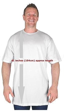 e867dca136e Big Mens White Extra Tall T Shirt Nightshirt L XL 2XL 3XL 4XL 5XL 6XL 7XL  8XL  Amazon.co.uk  Clothing