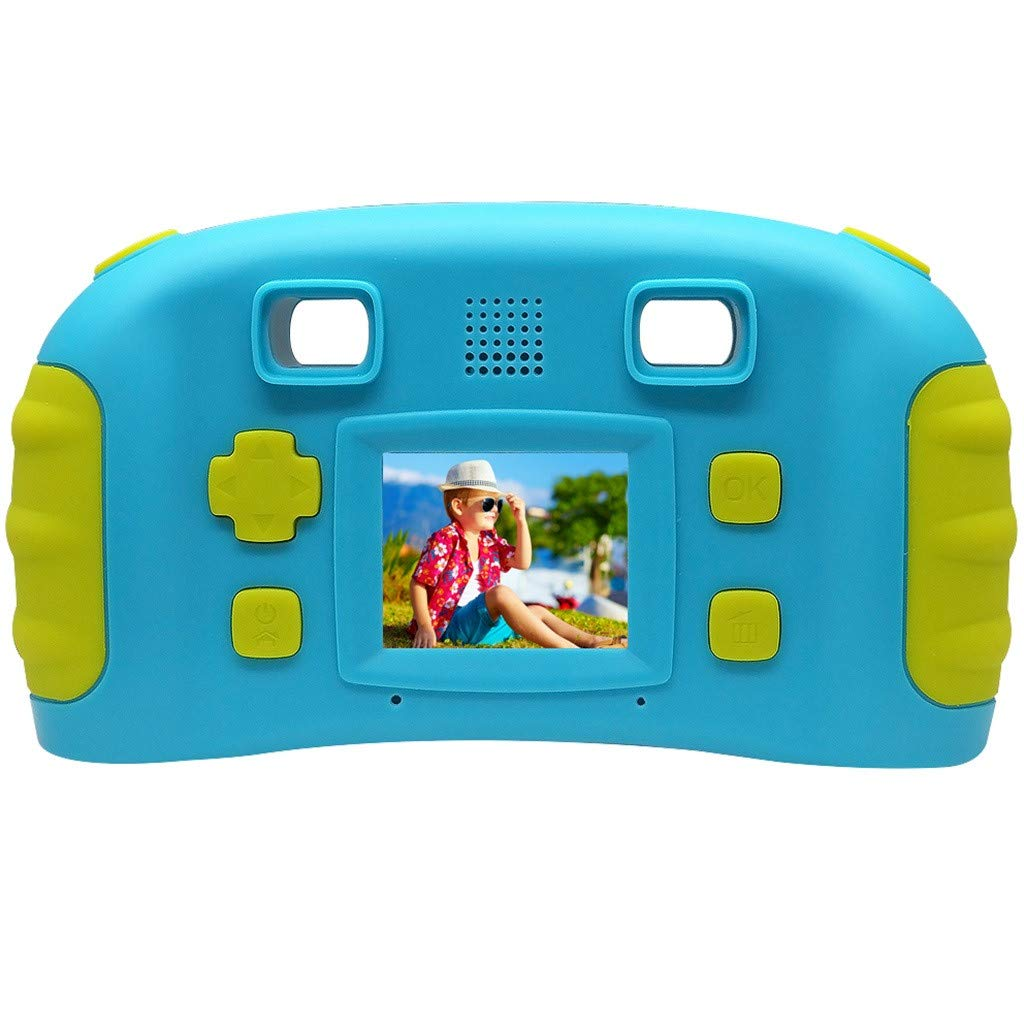 HowLoo Creative Camera for Children's 1.77-inch Game Digital Camera HD Motion Camera (Blue) by HowLoo (Image #3)