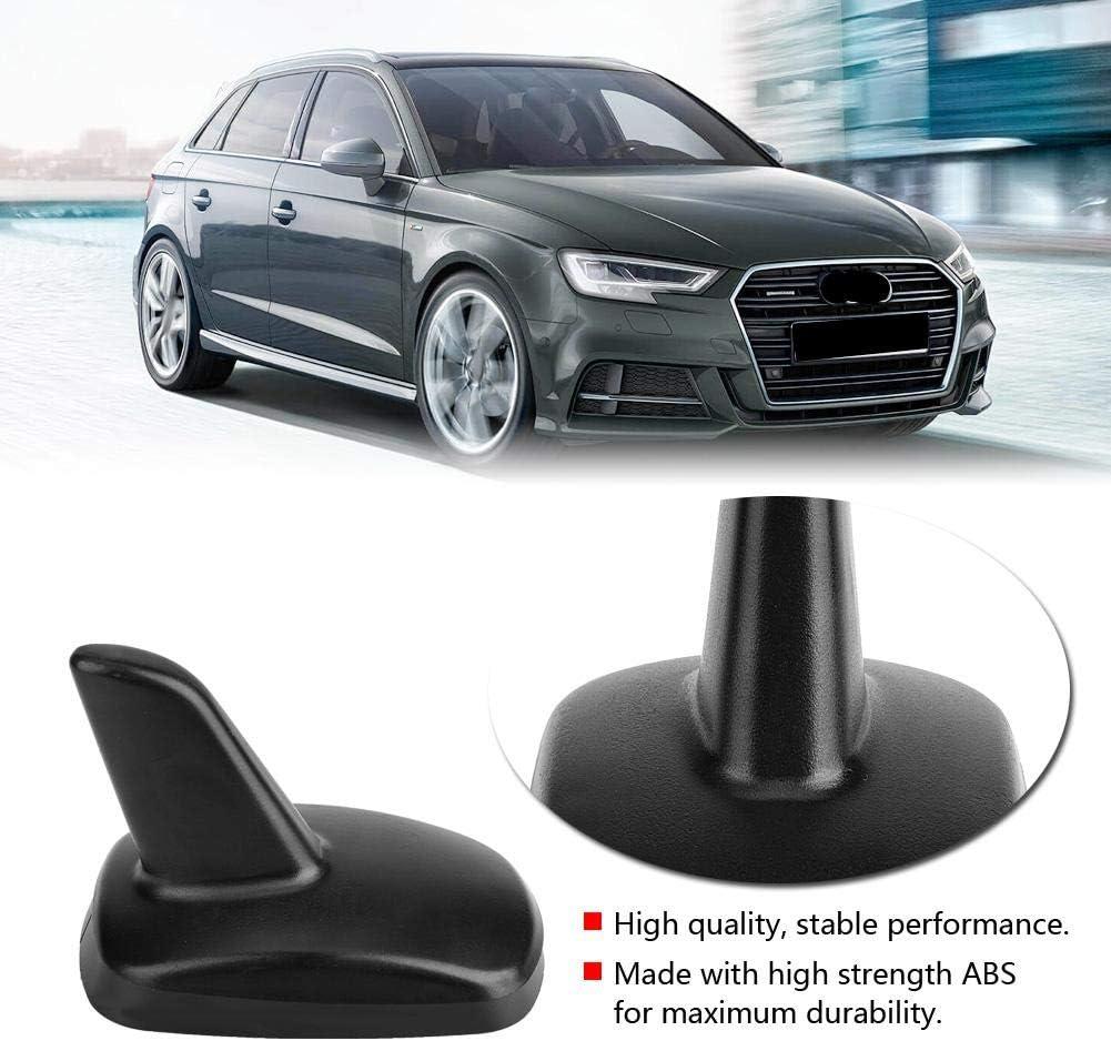 Duokon Antena de aleta de coche, antena decorativa de aleta de tiburón negro anticorrosión resistente al desgaste del techo para A4 A6 A6L Q5 Q7 ...
