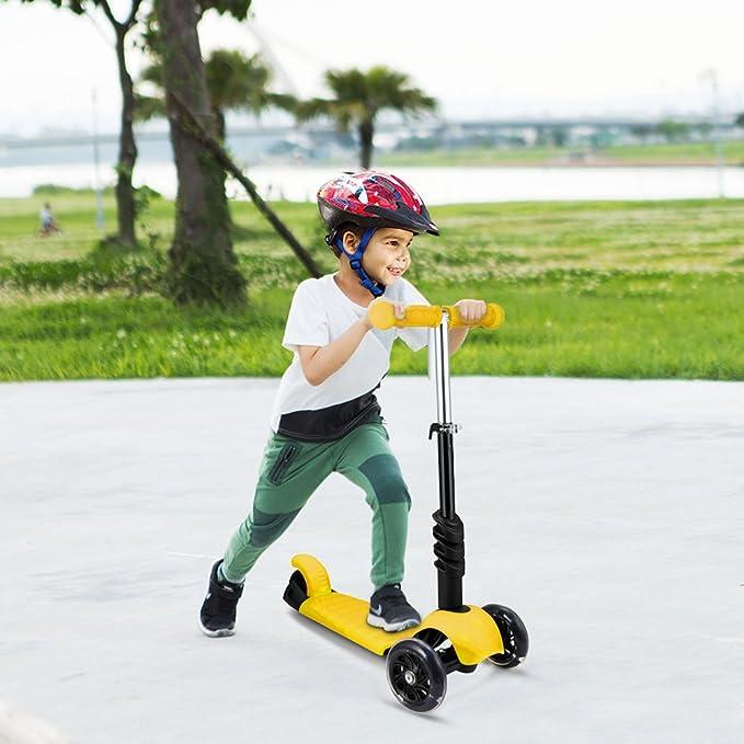 weskate 3 en 1 Niños Pequeños Niños Roller Scooter, 3 Ruedas ...