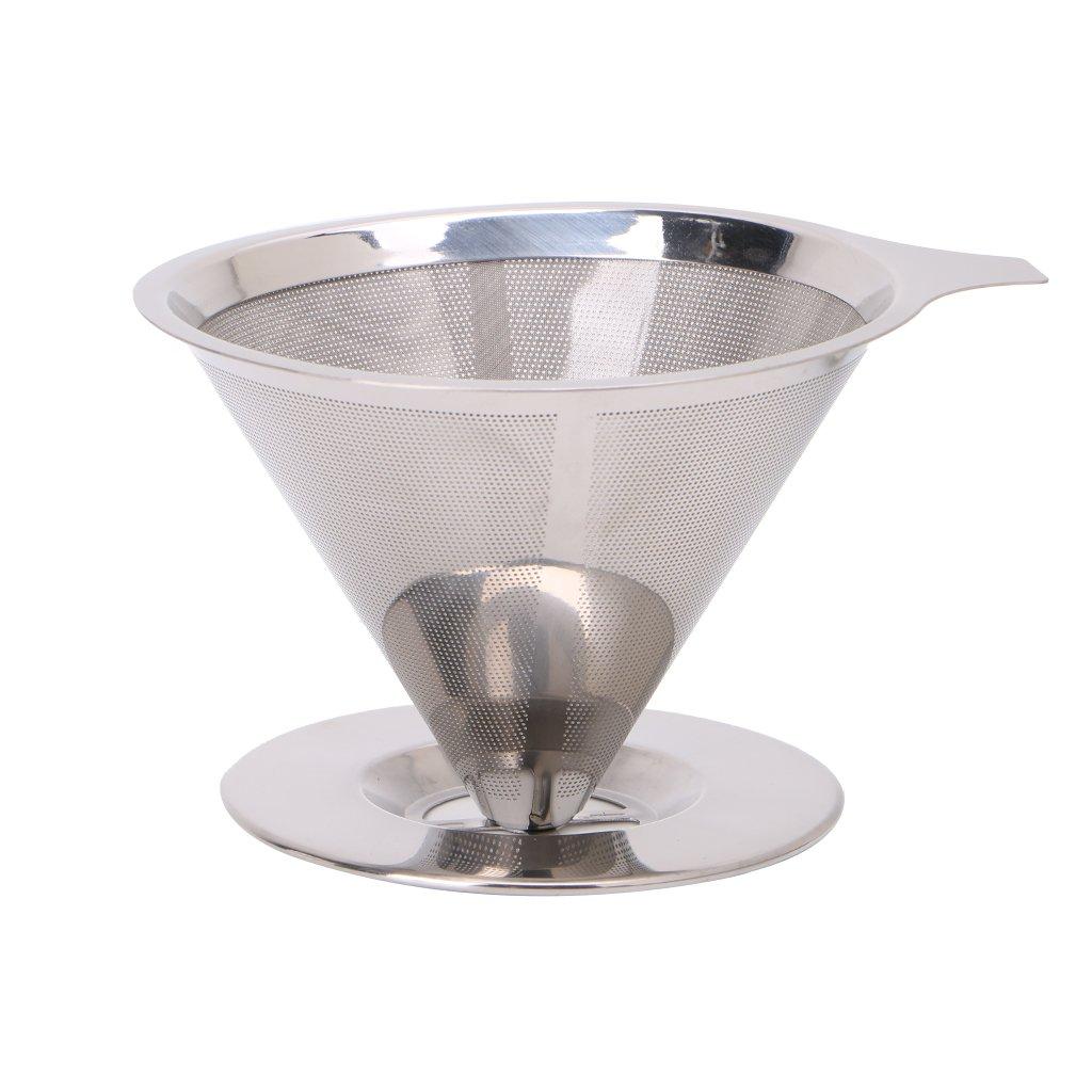 Tebatu コーヒーフィルター ステンレススチール メッシュ ペーパーレス ドリッパー 再利用可能   B07J34WV79