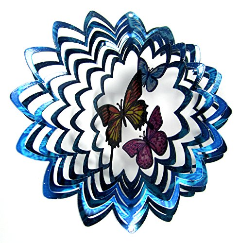 Wind Spinner Butterfly Trio Twister