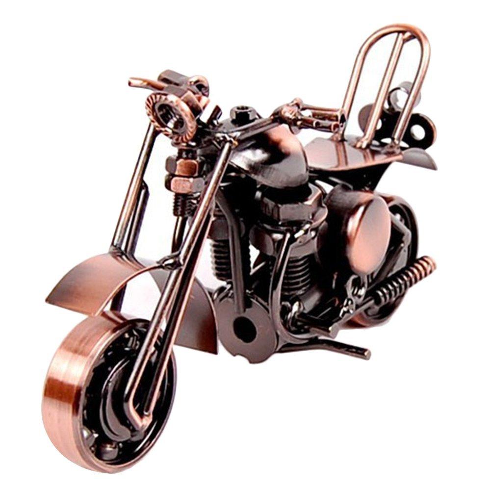 EQLEF® Motorradmodell kreative Handwerk Geschenk , RetromotorradModell, Metallmaterial, Erledigte Elektrolytische Auflage (Art 1) SwirlColor EQLEF®