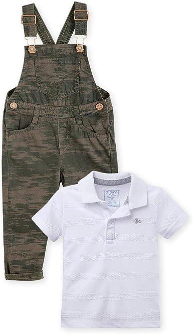 OFFCORSS Baby Toddler Boy Overall Pique Polo Shirt Outfit Conjunto Bebe Ni/ño