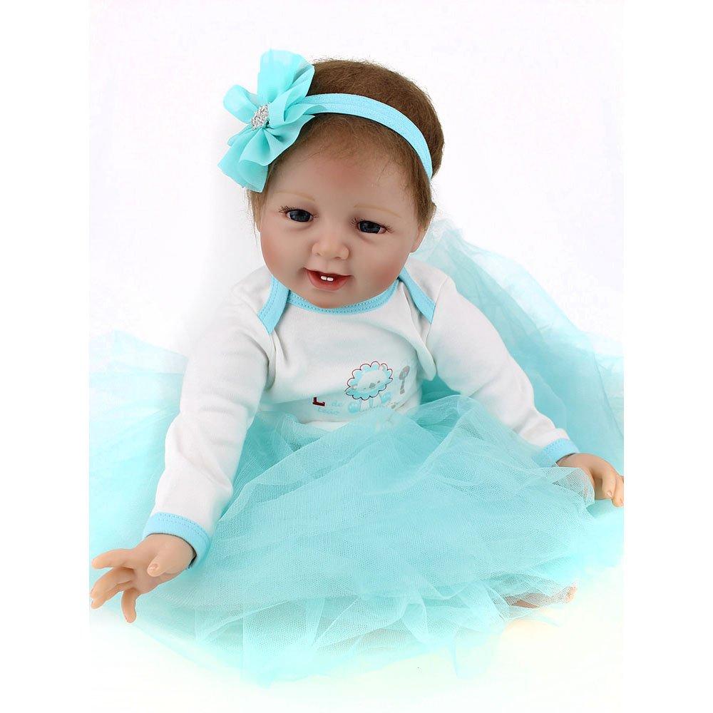 Amazon.com: Silicone Reborn Babies Girl Full Body Newborn Real Life ...