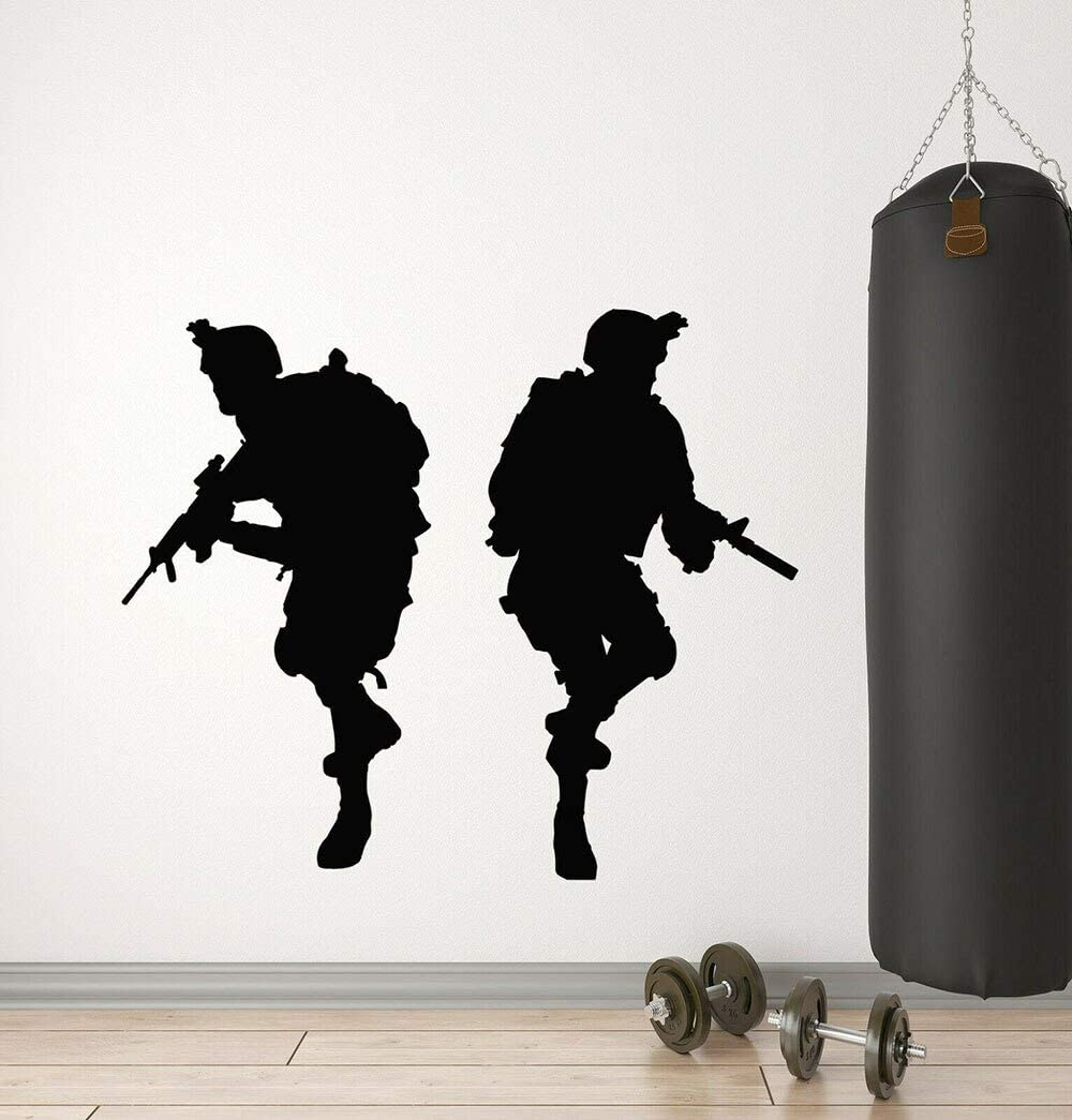yaonuli Boy Army Soldier Sticker Vinilo Tatuajes de Pared Soldado ...