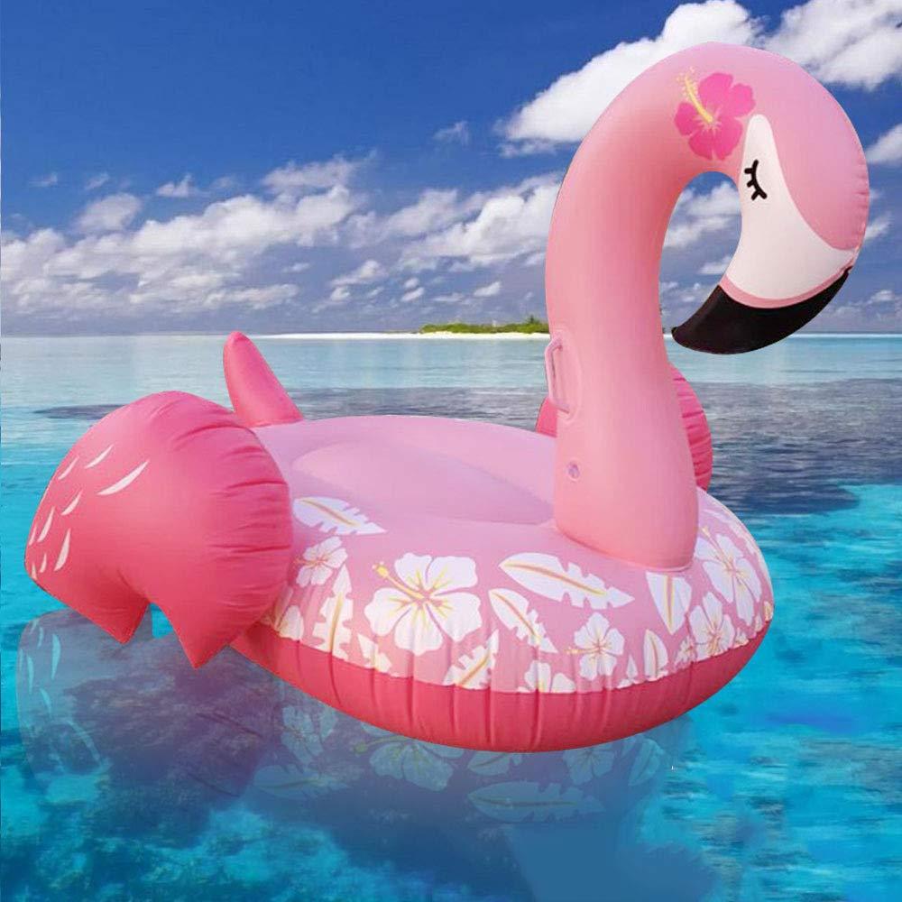 Nouvelle Rangée Flottante Gonflable De Flamingo Jouets Gonflables Pour Enfants, Jeux D'eau Anneau De Natation Adulte, Jouets De Piscine -150 * 105cm