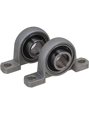 BQLZR Gray aleación de zinc diámetro de 20 mm de diámetro rodamientos de bolas Eje de