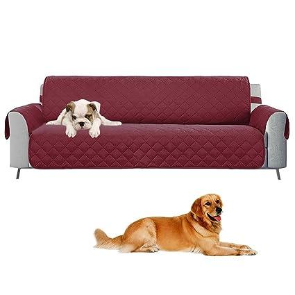 Umiwe Funda sofá Protectores de sofá para Perros, Fundas de Muebles Protectores de Mascotas Reversibles para Mascotas, Perros, niños, Ancho del ...