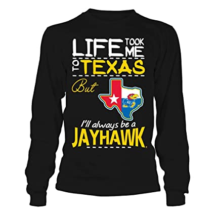 Amazon.com : FanPrint Kansas Jayhawks T-Shirt - Life Took Me ...