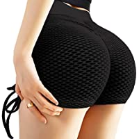 Chriamille Butt Lifting Workout Shorts for Women Ruched Butt Scrunch Booty Shorts Leggings Anti Cellulite Hot Yoga…