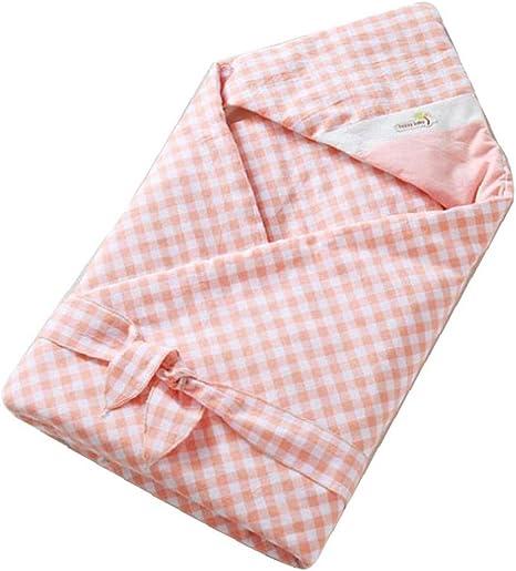 Mantas Pañales Dulce Bebé Recién Nacido Algodón Con Capucha Del Abrigo De Empañar Saco De Dormir Combinado Rosado: Amazon.es: Bebé