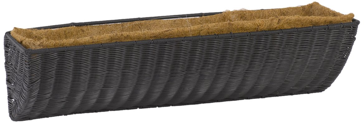DMC Products 48-Inch Resin Wicker Wall Basket, Black by DMC Products
