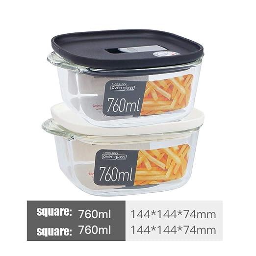 Caja de cereales para conservar alimentos, cristal, crispador ...
