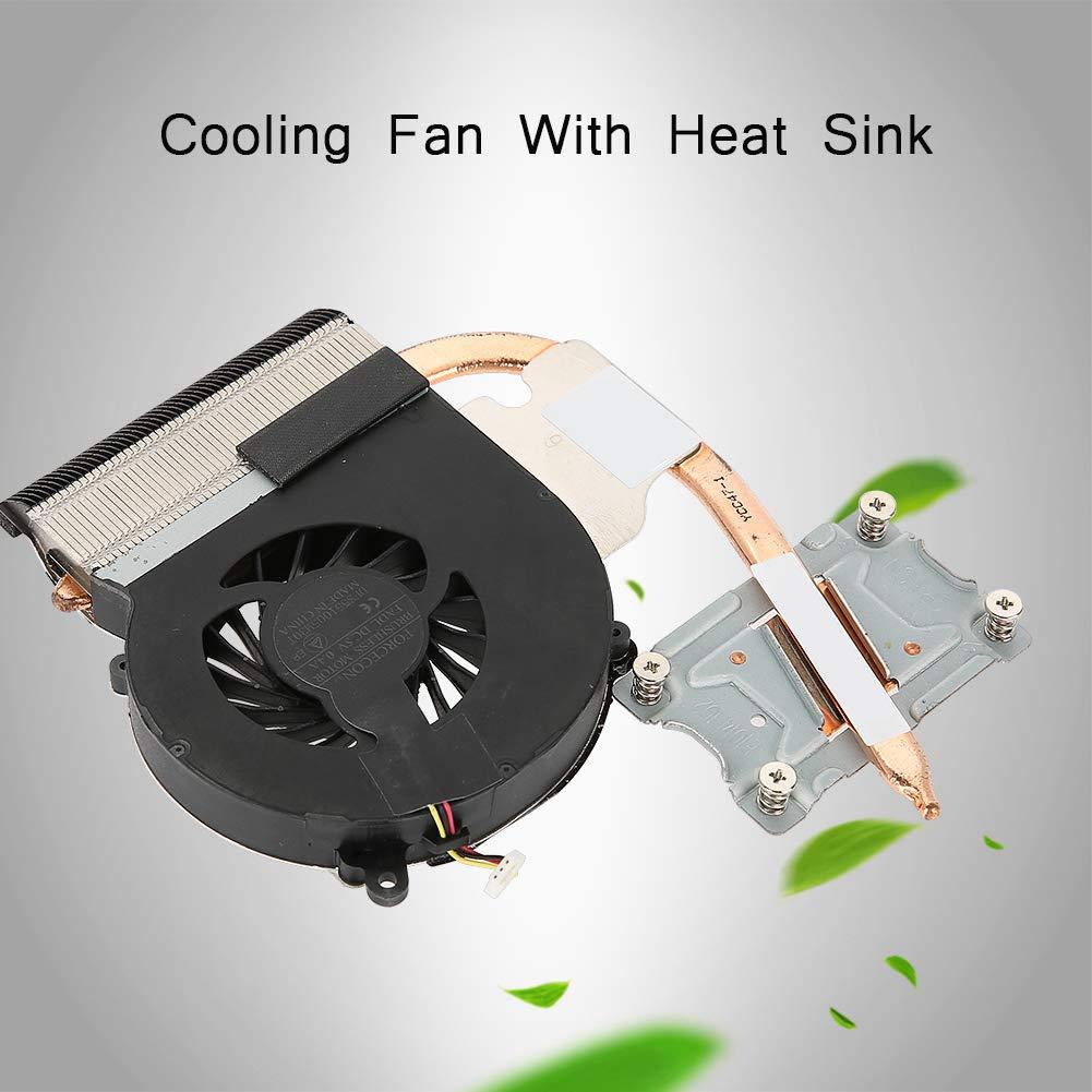 ASHATA Ventilador del Procesador Ventilador de Enfriamiento 1500RPM 3 Pines con Disipador de Calor para HP Compaq CQ43 CQ57 431 630 631