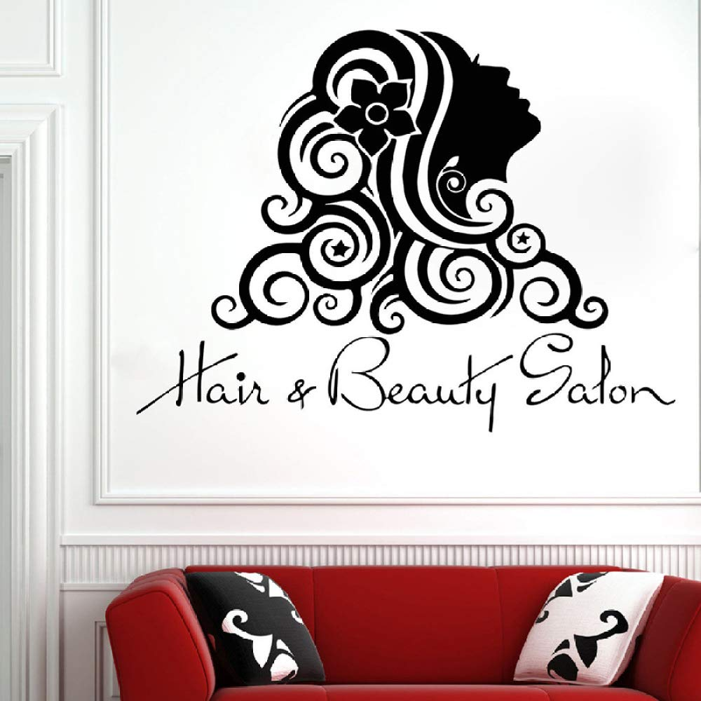 HNXDP Hair Salon Tatuajes de pared Moda Chica Peluquería Salón de ...