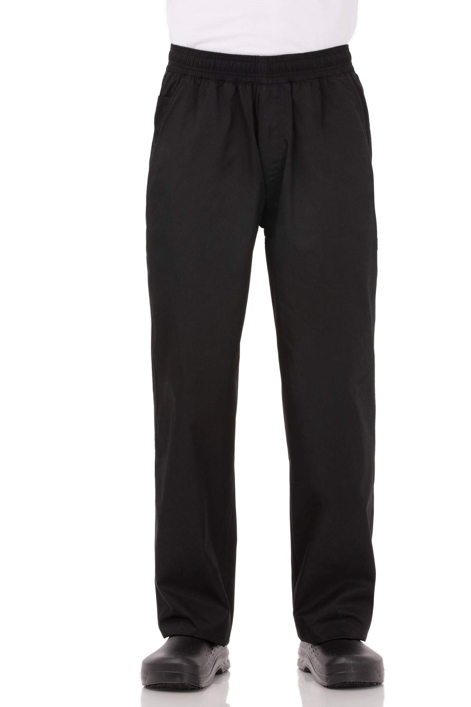 Chef Works Men's Essential Baggy Chef Pants, Black, 7X-Large by Chef Works
