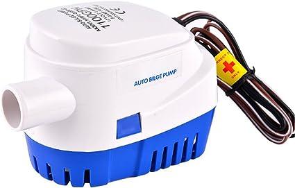 12V 3.8A 750GPH Automatic Bilge Pump,Submersible Boat Water Pump,Electric Pump