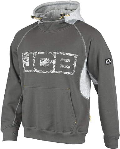 Work Hooded Jumper Trade Hoody Mens JCB Horton Hoodie Navy//Black Sizes S-XXL