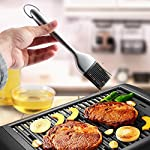 Silicone Basting Brush BBQ Grill Pastry Brush for Baking and Cooking, Safe Heat Resistant, Stainless Steel Handles, Set of 2, with Free Wall Hook, 12 Inch/8 Inch 14 ★ HEALTHY TASTELESS AND INTIMATE LIFE : Premium stainless steel handles bbq basting brush set and eco-friendly silicone.Standard food silica gel, high elasticity, healthy, safe and non-toxic, and heat resistant. Silica gel head is soft, moderate and tough, good kinking and not easy to deform. In the family warm barbecue, you can use it rest assured to add seasoning. ★ MULTI-FUNCTION : Small Tool , Big Function. You can use it for Western steak, barbecue kebab, frying pan, bread, sauce, honey, butter chocolate sauce, sauce, jam and so on. You can use it do whatever you can. ★ USEING INSTRUCTIONS : ① Before use, please clean the silica gel brush and wipe it with a soft rag before use. ② After use and cleaning, please clean it with a soft rag and store it in a cool and dry place.