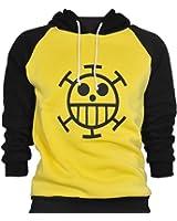 CoolChange Sudadera de Trafalgar Law con símbolo de Jolly Rogers del equipaje de piratas Sombrero de Paja de la serie One Piece. Talla: M