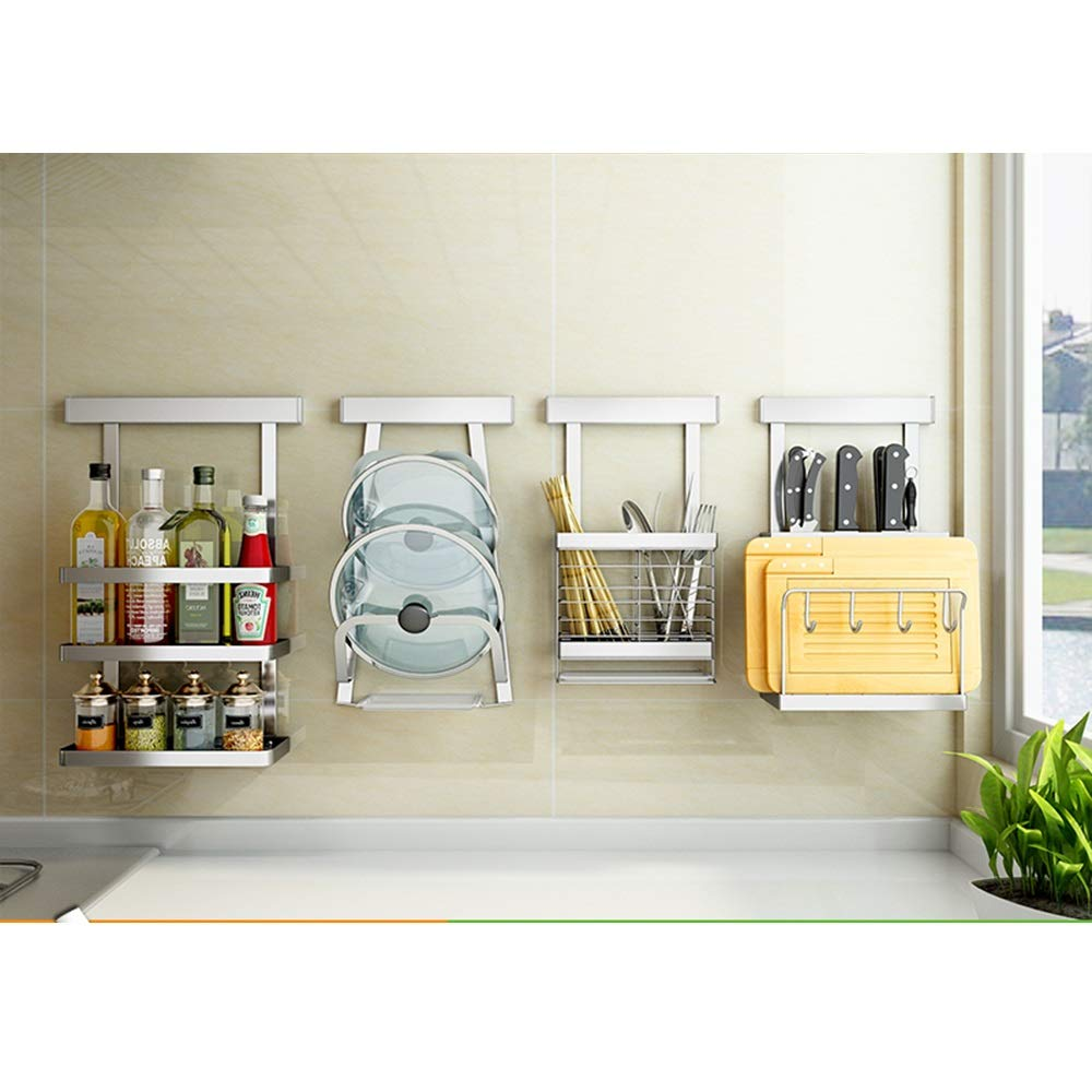 HUO 304 Stainless Steel Kitchen Rack Wall-Mounted Tool Cutting Board Kitchen Knife Storage Supplies Knife Holder (Size : B) by Kitchen shelf (Image #1)
