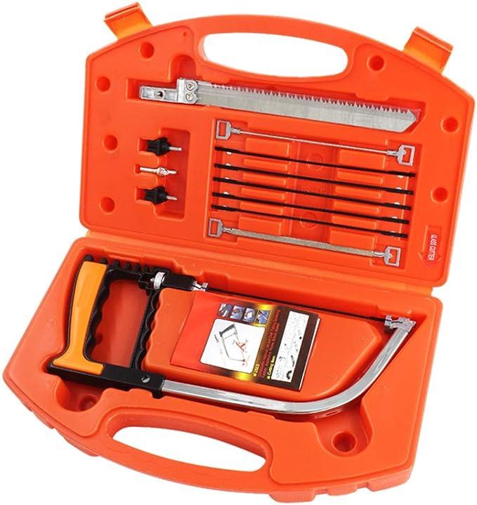 Juego de sierra de mano 12 en 1 mágico universal con estuche de almacenamiento para cortar madera, plástico, tubo de PVC: Amazon.es: Bricolaje y herramientas