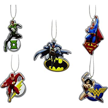 Amazon.com: Justice League Holiday Ornaments 5 Pack: Home & Kitchen