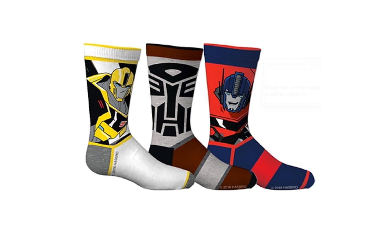 Transformers Boys Optimus Prime 3-Pack Crew Socks SPORTICUS