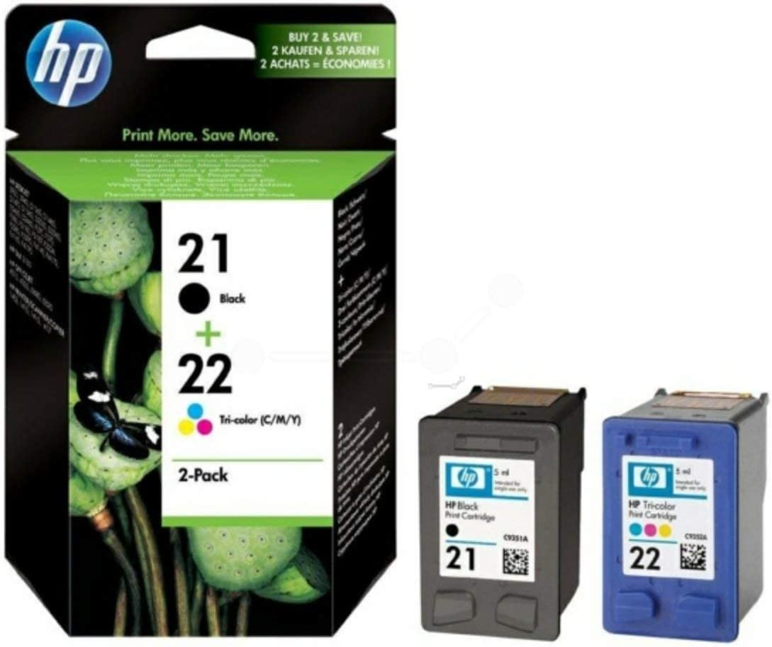 Schwarz 360 Seiten Gelb Original Tinten Spar-Set HP Nr 21 /& Nr 22 SD367AE445-2 Tinten-Patronen Magenta Cyan
