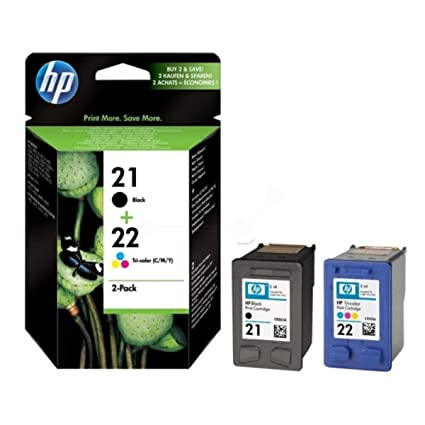 HP 21 negro/tricolor HP 22 2-pack Original cartuchos de tinta