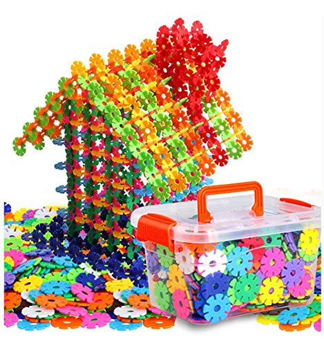 Auoxer Building Block Toys, Snowflake Gear Flakes Connect Interlocking Plastic Disc, A Creative and Educational Construction Toy Bricks - Best toy for Boys and Girls