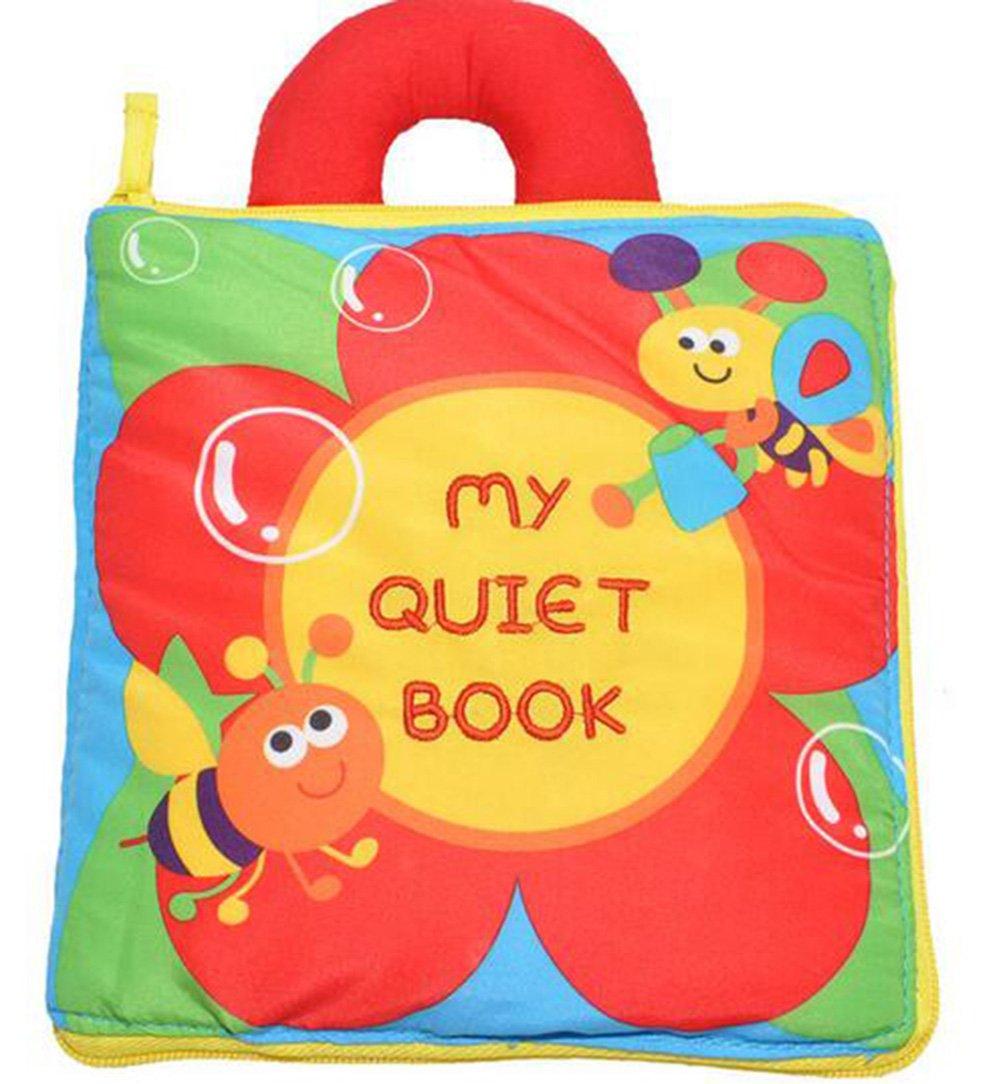 Soft Cloth Books, Baby Intelligence Development Learning & Education Toy (jungle) Warmword