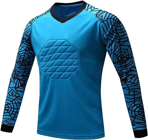 Anticolisión Fútbol Americano Uniforme Portero Portero Profesional Ropa Top Manga Larga Masculino Jerseys Camisa Dragón Ropa Entrenamiento (Color : Blue, Size : M): Amazon.es: Hogar