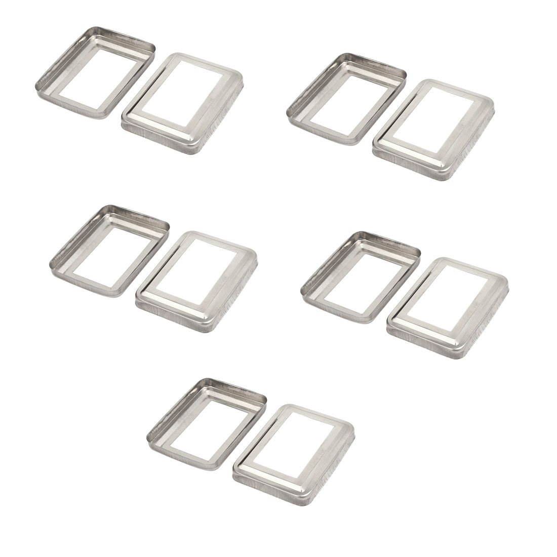 uxcell 10pcs Ladder Handrail Hand Rail 75mm x 45mm Post Plate Cover 304 Stainless Steel