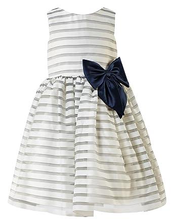 7c3c1aa7bee princhar Organza Stripes Flower Girl Dress Wedding Party Toddler Dresses US  2TIvory Gray