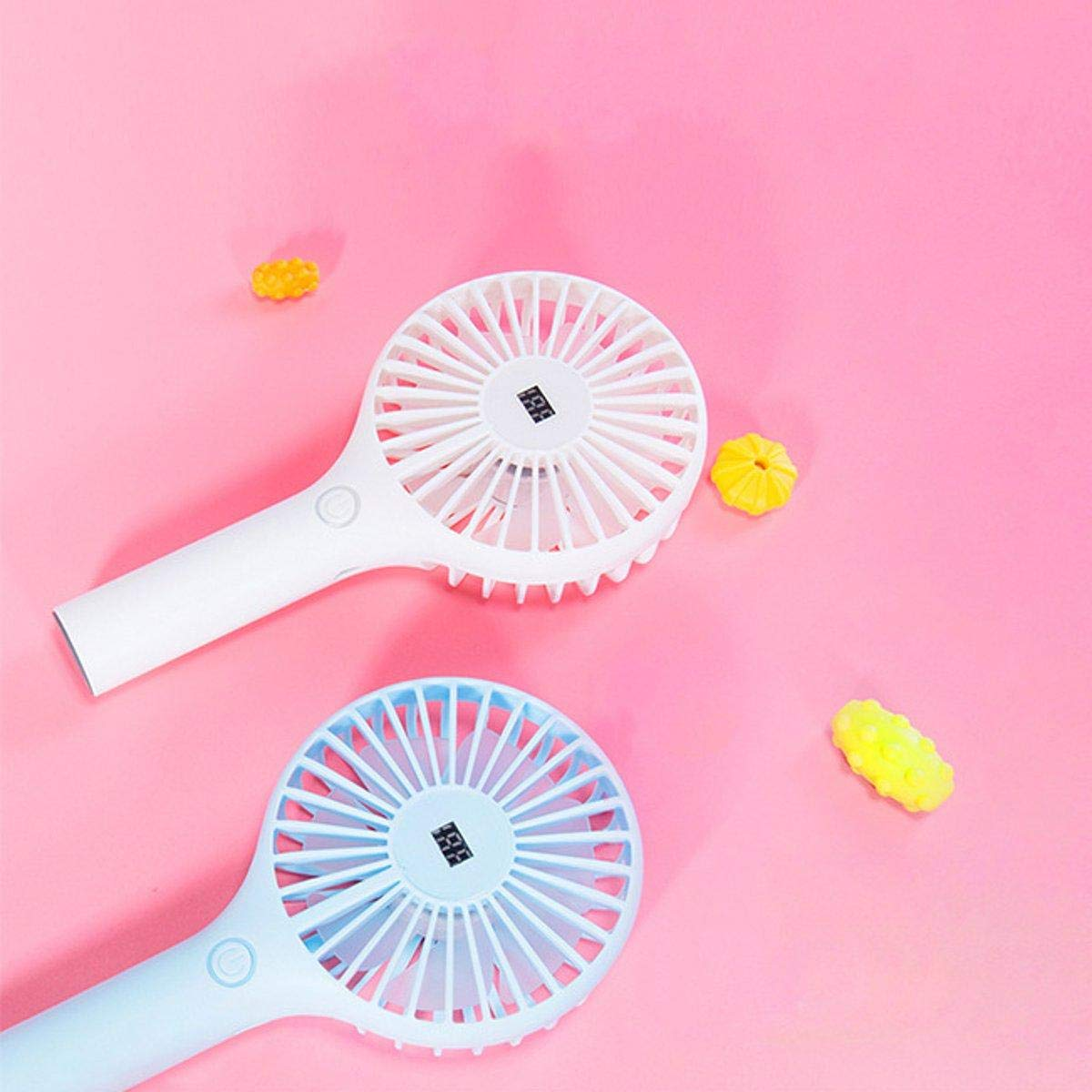F.S.M. Portable Mini Handheld USB Cooling Desk Fan Outdoor Rechargeable Air Wind Cooler - White by F.S.M.