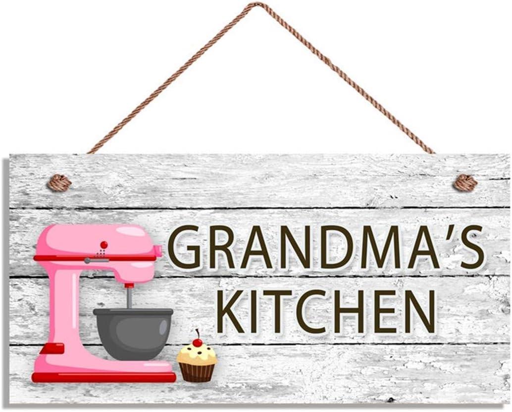 Amazon Com Maiyuan Grandma S Kitchen Sign Pink Mixer And Cupcake Wall Art Gift For Grandma 5 X 10 Sign W20 119 Home Kitchen