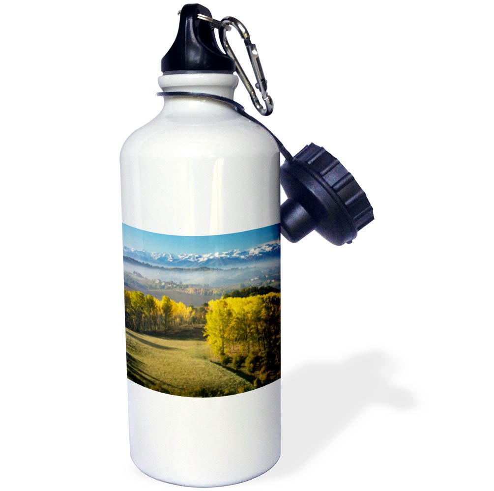 3dRose Danita Delimont - Italy - Autumn view across the Po Valley to the Ligurian Alps, Piemonte, Italy - 21 oz Sports Water Bottle (wb_277569_1)