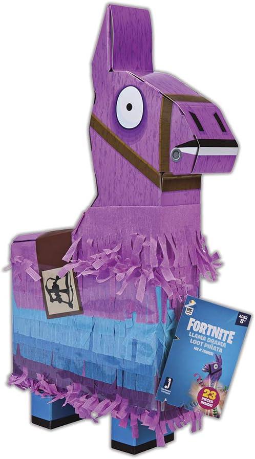Jazwares-Fortnite La piñata de la Llama, Color Rosa/Azul/Negro, Talla única (FNT0009)