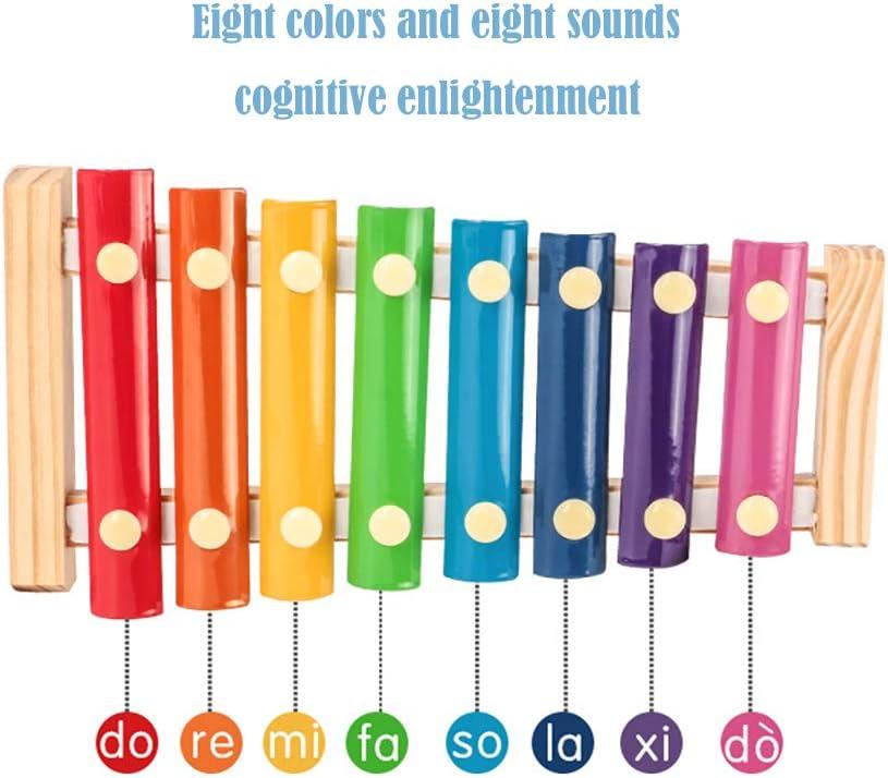 xil/ófono de madera octava juguetes musicales educativos instrumentos de percusi/ón juguetes es el regalo ideal para tus hijos SLKIJDHFB Xil/ófono para ni/ños