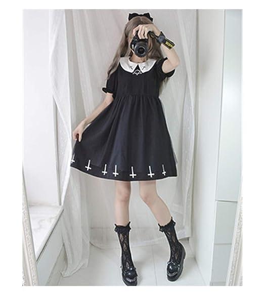 Amazon.com: Harajuku - Vestido de estilo gótico japonés para ...