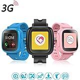 Oaxis Enfants Smart Watch Téléphone pour les enfants, la première 3G SIM Card Smartwatch enfant avec GPS Tracker Fitness Anti-perdus SOS Finder Geo Fencing écran tactile